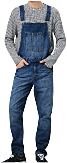 Cardith Pocket Jumpsuit Men's Jeans Overall Streetwear Overall Suspender Pants