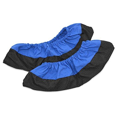 FLIXI Schuhüberzieher aus Baumwolle und Antislip Material – atmungsaktive Überschuhe - wiederverwendbar - Größe 40 - in Blau