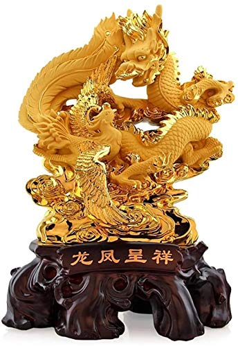 FLYAND Accessori Decorativi Ornamenti Feng Shui Phoenix And Dragon Statue Best Home Decor Soggiorno TV Armadio Armadio per Vino Decorazioni Feng Shui Decorazione