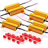 Zone Tech 50W 6Ohm LED Load Resistors - 8-Pieces Premium Quality LED Load Resistors for LED Turn Signal Lights or LED License Plate Lights or DRL (Fix Hyper Flash, Warning Cancellor)