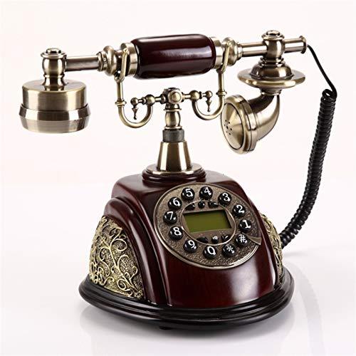 YYCHJU Teléfono con Cable Retro teléfono Fijo Teléfono Teléfono Mundo Vintage Antiguo Moda Teléfono Fijo Hecho de Resina Metal Desk Home Office House
