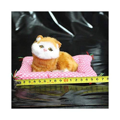 SHOYY Adornos Coche del Gato del Tablero de Instrumentos del automóvil Decoración Lindo Gatito Regalos Auto Interior Accesorios Decoración (Color Name : Yellow White)