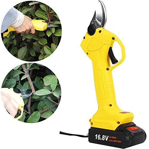 New Electric Pruning Shears, 16.8V Rechargeable Pruning Shears (Caliber 30MM-25MM) 2Ah Lithium Batte...