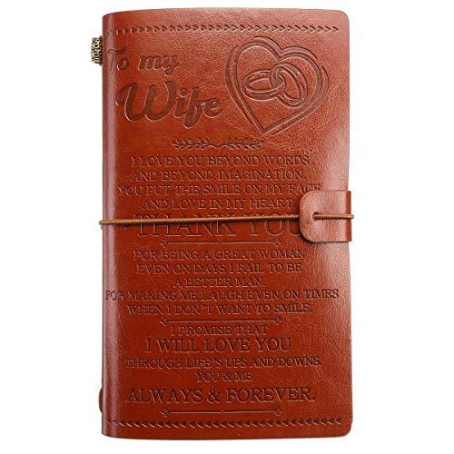 Chenhan Diario Notebook 21 Tipos A6 Cubierta DE Cuero Diario Diario de NoteBO para Hija/Hijo/MI Hombre/Esposa/MOM/Dad/NIBRIANO Traveler Bloc de Notas Regalo de cumpleaños Cuaderno