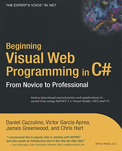 Beginning Visual Web Programming in C# pdf Download