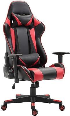ゲーミングレーシングオフィス コンピュータゲーム、ビデオゲームの椅子は、背中の快適さに合わせて、ランバーサポート付きの椅子を旋回します ゲーミングチェア (色 : Picture Color, サイズ : 70X70X125CM)