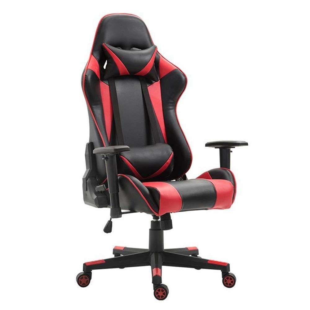 ゲーミングチェア ランバーサポートビデオゲームとコンピュータゲーム、ビデオゲームの椅子人間工学に基づいた椅子 リクライニング (色 : Picture Color, Size : 70X70X125CM)