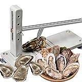 EUNEWR Acciaio inossidabile Oyster Shucker,Oyster Shucker Machine Kit,Rugged Oyster Opener commerciale,Oyster Opener professionale con manico antiscivolo e base, per il mercato del pesce e la casa