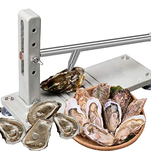EUNEWR Acero inoxidable Oyster Shucker,Shucker de ostras,kit de máquina para descorazonador de ostras,abridor de ostras comercial, abridor de ostras profesional con mango y base antideslizantes