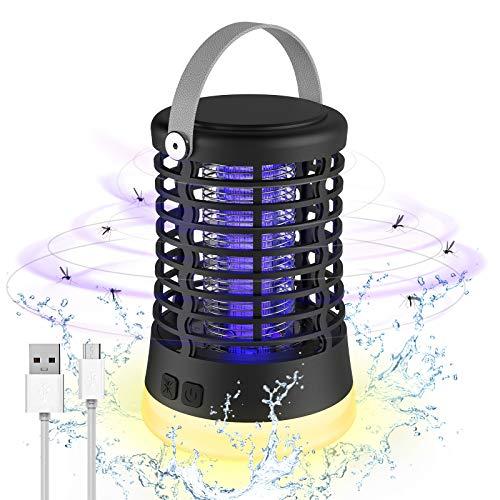Aidodo Lámpara Antimosquitos,2 en 1 Lámpara Antimosquitos Recargable LED Linterna de Camping con batería Recargable de 2200 mAh, IP67 a Prueba de Agua