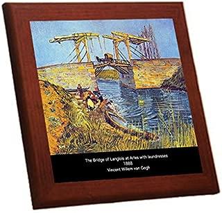 ゴッホ『 アルルの跳ね橋 』の木枠付きフォトタイル(世界の名画シリーズ)