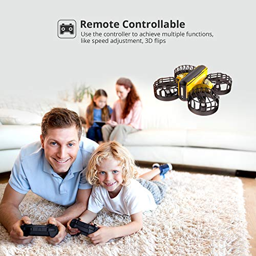 Holy Stone HS450 Mini Drone, Hand Operated and Remote Control Nano Quadcopter for Kids, with 3 Batteries, Throw to Go, Flips, Obstacle Avoidance, Circle Flying, Altitude Hold, and Toys