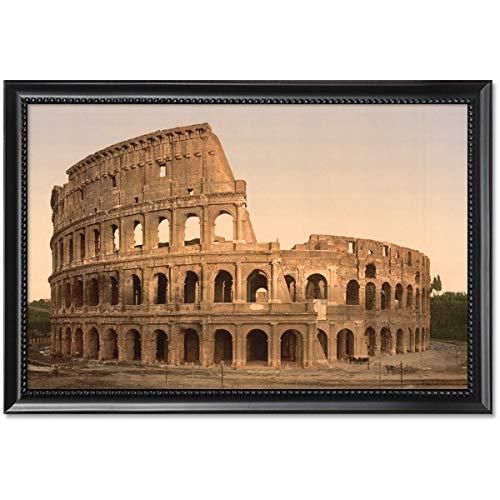 ClassicPix Framed Print 11x17: Exterior of The Coliseum, Rome, Italy, Circa 1890