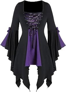 ◆◇ HebeTop◇◆ Corset Top: Romantic Victorian Gothic Stylish Women's Tunic for Everyday Halloween Cosplay Festivals Purple