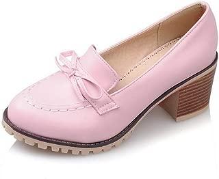 BalaMasa Womens Charms Bows Solid Urethane Pumps Shoes APL10472