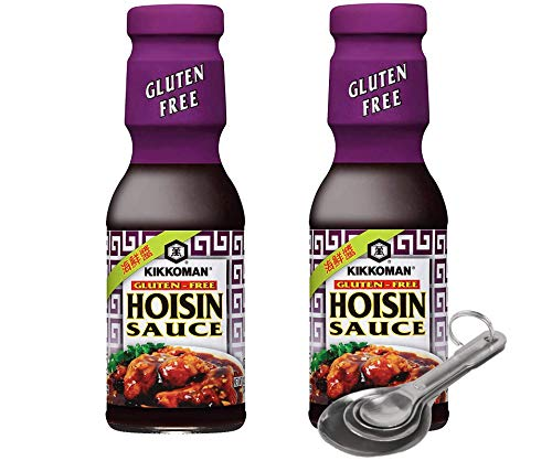 [Free Measuring Spoon][Pack of 2] Kikkoman Gluten Free Hoisin Sauce, for Marinades & BBQ sauces, Authentic Asian Flavors