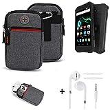 K-S-Trade® Gürtel-Tasche + Kopfhörer Für Archos Saphir