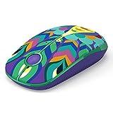 Ratón Inalámbrico, Jelly Comb Ratón Inalámbrico de 2,4 GHz para Ordenador Portátil/Tableta, Preciso y Silencioso (Pavo Real)
