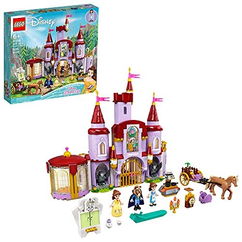 LEGO Disney Belle and The Beast's Castle 43196 Building Kit; an Iconic Castle Construction Toy for Creative Fun; New 2021 (505 Pieces)