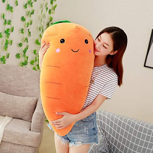Wzxpoor Linda Zanahoria Peluche de Peluche Super Suave muñeca de Zanahorias rellenas con algodón de algodón cojín niña (Size : 95cm)