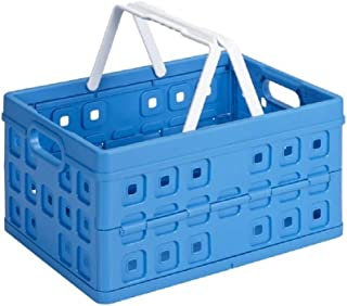 Sunware 57101611 Boîte Pliante carrée avec poignée, Bleu, Taille Unique
