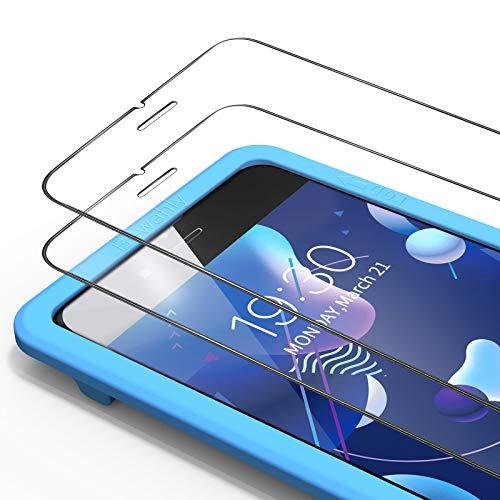 Bewahly Panzerglas Schutzfolie für iPhone 8/7 / SE 2020 [3 Stück], 9H Härte Panzerglasfolie 0.25mm Ultra Dünn Displayschutzfolie mit Installation Werkzeug für iPhone 8/7 / SE 2 (4,7 Zoll)