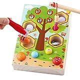 Sunarrive Montessori Motorik Spielzeug Angelspiel - Holzspielzeug Lernspiele - Motorikspielzeug - Lernspielzeug Kinderspiele - Geschenk für Kinder Kleinkind ab 2 3 Jahre - Steckspiel