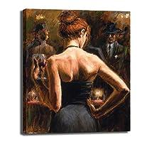 赤毛の少女は、キャンバス印刷、ポスターホテルオフィスベッドルームリビングルームの研究の装飾絵画絵画ホームアート装飾絵画ハンギング、フレームレス,45×60cm