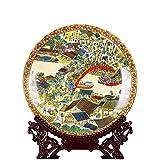 Dirgee 10 Pulgadas Jingdezhen cerámica Azul y Blanco Porcelana Qingming SHANGHE Figura Placa Decorat...