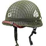 XYLUCKY WW2 US Army M1 Green Helmet Replica con Net/Canvas Chin Strap Pintura DIY