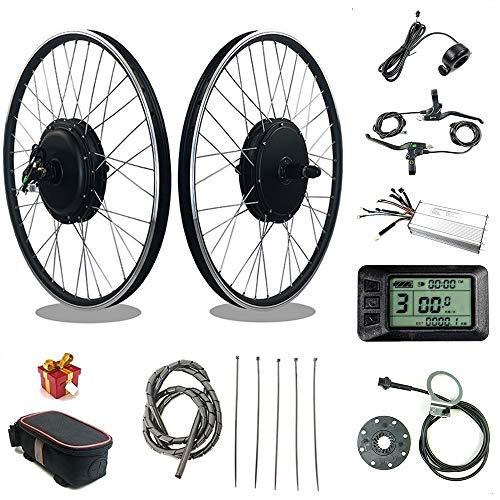 RICETOO Kit de conversación de Bicicleta eléctrica 48V1500W Rueda de Motor de Cubo con KT LCD7U Motor de Rueda de Casete Trasero Kit de conversación de Bicicleta eléctrica E (48V 1000W 20inch)
