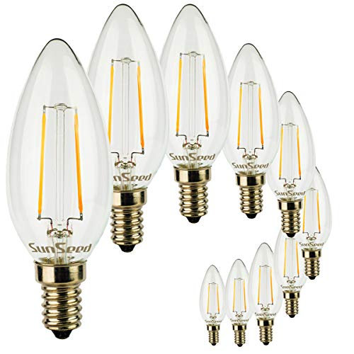 SunSeed® 10x gloeidraad LED kaars lamp E14 3W vervangt 35W warm wit 2700K