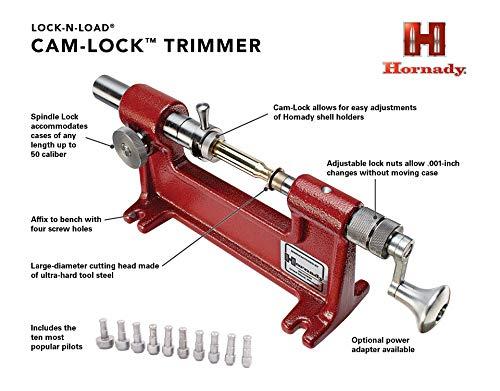 Hornady Cam Lock Trimmer 050140, Red