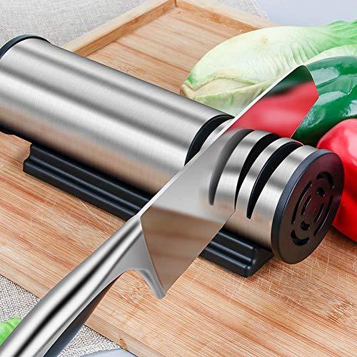 ZKZK Cote -Alta precisione Elettrico Coltello Affilatrici, Domestica Coltello da Cucina Temperino, Cucina Multifunzionale Automatico Sharpening Stone, Veloce e Lavoro di Risparmio (Size : -)