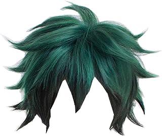 COSJP My Hero Academia Izuku Midoriya Wigs Short Fluffy Green Black Hair