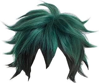 My Hero Academia Izuku Midoriya Wig Green and Black Hair Wig Cosplay Props