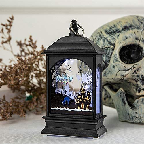 GYUY&CDE Holiday Hanging PVC Pumpkin Castle Regalo Decorativo Luz de Noche Inicio Disposición de Escenario de Halloween Led Exquisito Dormitorio, 7