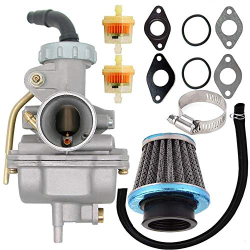 PZ20 Carburetor for Kazuma Baja 50cc 70cc 90cc 110cc 125cc TaoTao 110B NST SunL Chinese Quad 4 Stroke ATV 4 Wheeler Go Kart Dirt Bike Honda CRF50F XL75 CRF80F XR50R with Air Fuel Filter