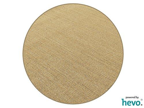 HEVO Salsa Design Sisal Teppich Honig mit klassischer Kettelkante 200 cm Ø Rund