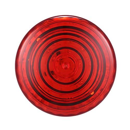 Topuality 12V 150mA Anzeige Signalleuchte rot Kabelgebundenes Blinklicht Alarm Strobe Blinkende LED Warnleuchte FEUERSIRENE für die Sicherheit