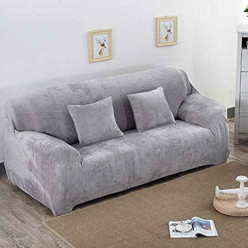 Super Soft Stretch Thick Plush Sofa Slipcover Couch Armchair Covers Furniture Seater Protector for Winter & Spring Use A2 3seats 190-230cm-1pc