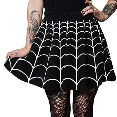 Women's Kreepsville 666 Web White Skater Skirt