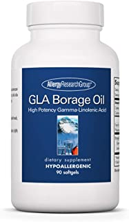 Allergy Research Group - GLA Borage Oil - High Potency Gamma-Linolenic Acid, Omega-6-90 Softgels