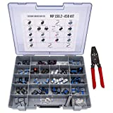 Metri-Pack Connector Kit MP-150.2-450 with T-10: Sealed Pull to Seat Connectors for Automotive Sensors 22-16 Gauge 450 Piece Kit with Crimp Tool