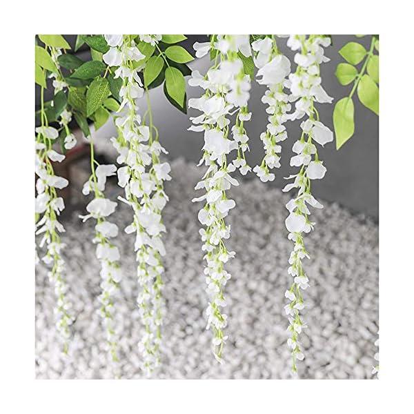 Flor Artificial Clavel Rosa Flores Falsas Ramo de Boda Nupcial Flores de Flores Realistas con Cesta de Maceta Paquete de…