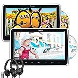 "10.1"" Reproductor DVD para Resposacabezas con 2 Pantallas, Entrada HDMI, Auriculares Equipados, Soporta Tarjeta SD, USB para Niños en Viajes, NAVISKAUTO"