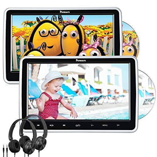 """Reproductor de DVD para Coche Soporta HDMI, 10.1"""" DVD para Resposacabezas con 2 Pantallas y Auriculares Equipados, soporta Tarjeta SD, USB para Niños en Viajes - NAVISKAUTO"""