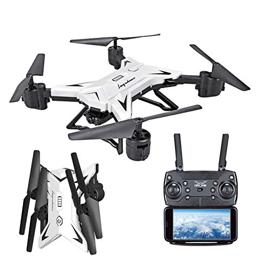 Drone Quadcopter Faltbare WiFi FPV RC Quadrocopter Drohne, routinfly mit 1080P 5.0MP Kamera Selfie Drohne (Weiß, 30*30*20cm)