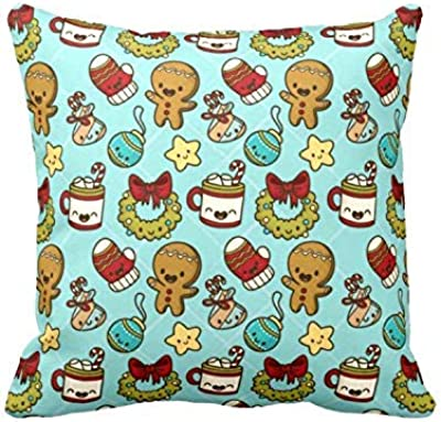 Yaya Cafe Christmas Gifts Cushion Covers House Decoration 16x16 inches - Ornaments Toy Snowman