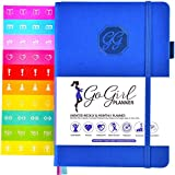 GoGirl Planner - Goal Planner & Organizer for Women - Undated (Azul Oscuro (Sin Fechas), Compact (13.5 x 19.5cm))